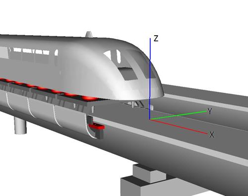 Моделирование динамики экипажей на магнитной подвеске
