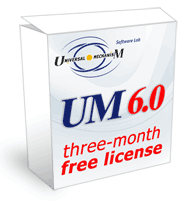 um 6 get three-month free license
